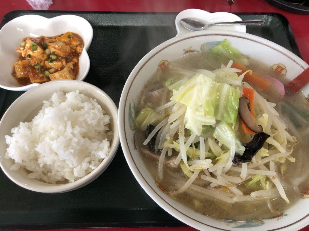 宝龍の担々麺定食