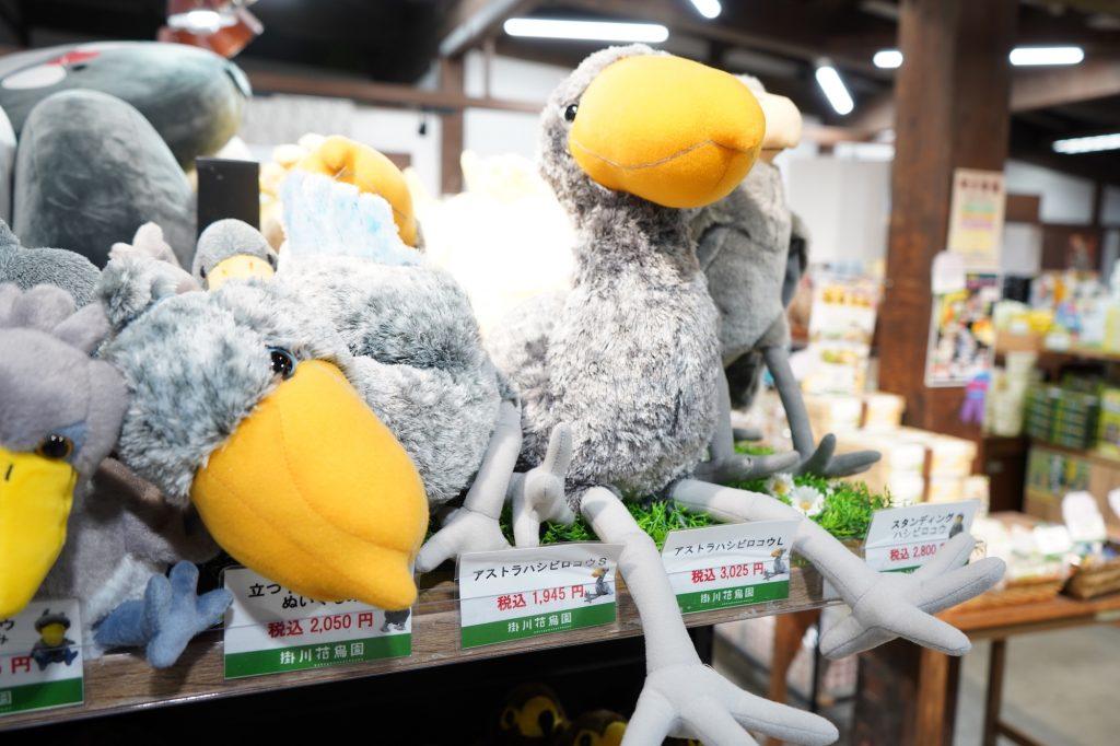 掛川花鳥園で買えるハシビロコウのぬいぐるみ