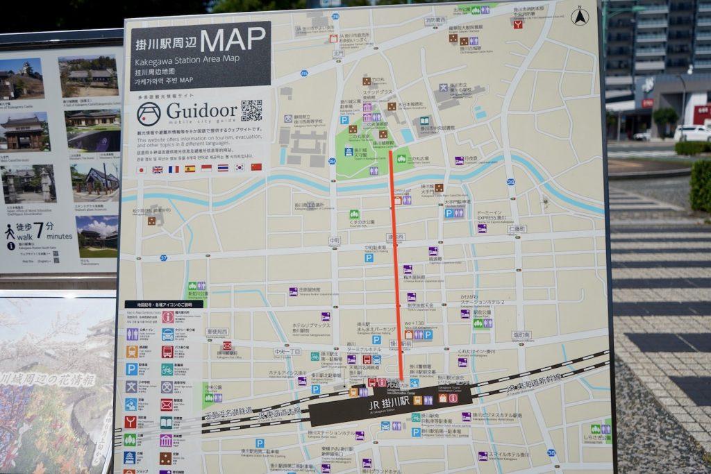 掛川駅のマップ